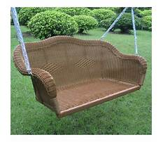 Wicker swing with free shipping Plan