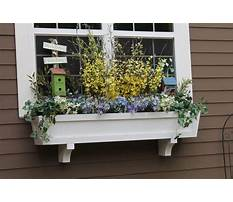 Window flower box design ideas Plan