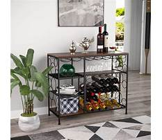 Wine rack dining table Plan