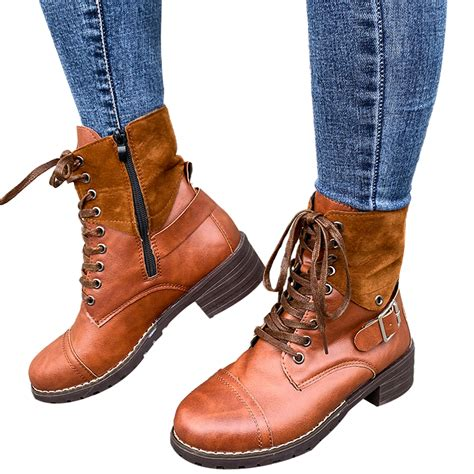 Women Combat Style Boots
