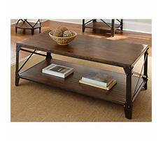 Wood and iron coffee table Plan