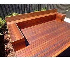 Wood bench designs for decks Plan