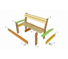 Wood bench plan free Plan
