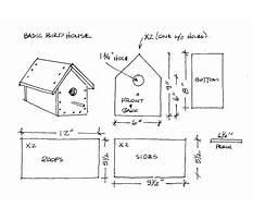 Wood bird house template Plan