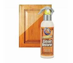 Wood cabinet finish restorer Plan