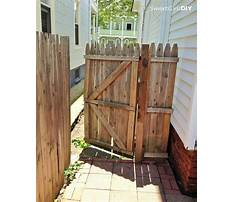 Wood fence building kits Plan