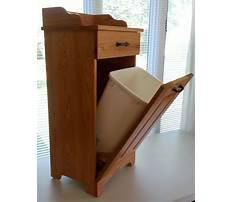 Wood kitchen garbage cabinet Plan