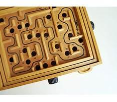 Wood marble maze game Plan