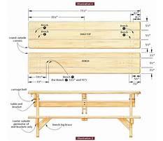 Wood picnic table plans free Plan