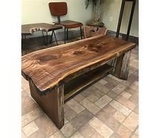 Wood slab coffee table canada Plan