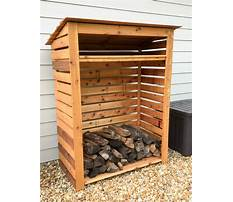 Wood storage rack and cover Plan