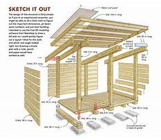 Wood storage shed.aspx Plan