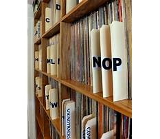 Wood storage shelves for record albums Plan