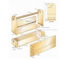 Wood tool box parts Plan