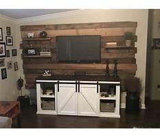 Wood wall entertainment units Plan