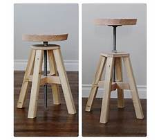 Wooden adjustable footstool Plan