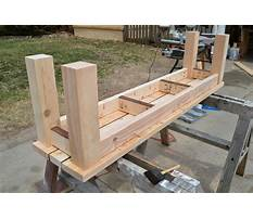 Wooden bench planters Plan