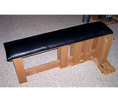 Wooden bench press Plan