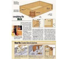 Wooden box plans free Plan