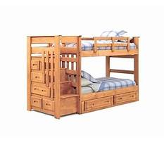Wooden bunk beds with stairs.aspx Plan