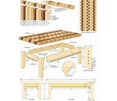 Wooden coffee table project Plan