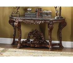 Wooden console table with marble top Plan