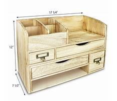 Wooden desk organizer Plan