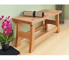 Wooden entryway bench plans Plan