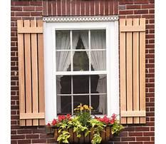 Wooden exterior shutters.aspx Plan