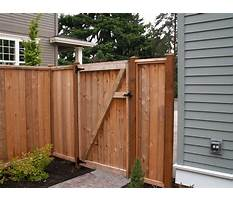 Wooden fence gate Plan