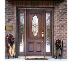 Wooden front door with glass panels.aspx Plan