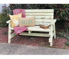 Wooden front porch benches Plan