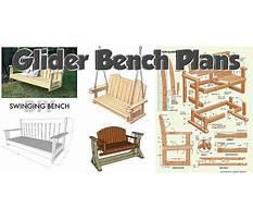 Wooden glider bench.aspx Plan