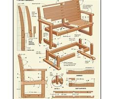 Wooden glider chair plans Plan
