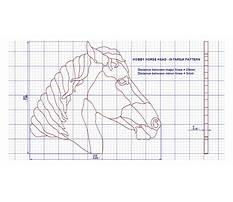 Wooden horse head Plan