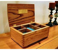 Wooden jewelry box template Plan