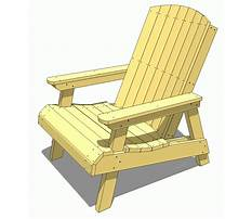 Wooden lawn chairs Plan