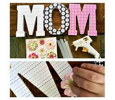 Wooden letters covered in scrapbook paper Plan