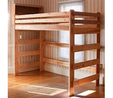 Wooden loft bed plans free Plan