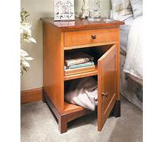 Wooden nightstand blueprints Plan