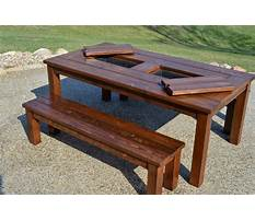Wooden outdoor table plans Plan