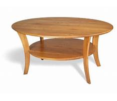 Wooden oval coffee tables Plan