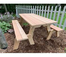 Wooden park bench and table Plan