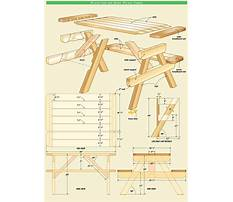 Wooden picnic table plans Plan