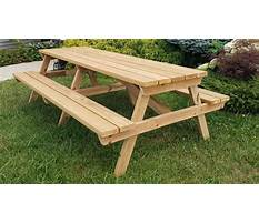 Wooden picnic table plans wooden posts Plan