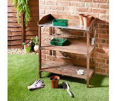 Wooden potting bench b&q Plan