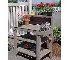 Wooden potting bench bakers Plan