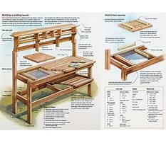Wooden potting bench blueprints Plan
