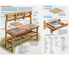 Wooden potting bench braintree Plan