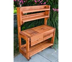 Wooden potting bench building Plan